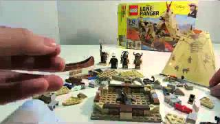Lego The Lone Ranger #79107 Comanche Camp Speed Build