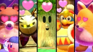 Kirby Star Allies - All Bosses You Can Befriend + Meta Knight Easter Egg