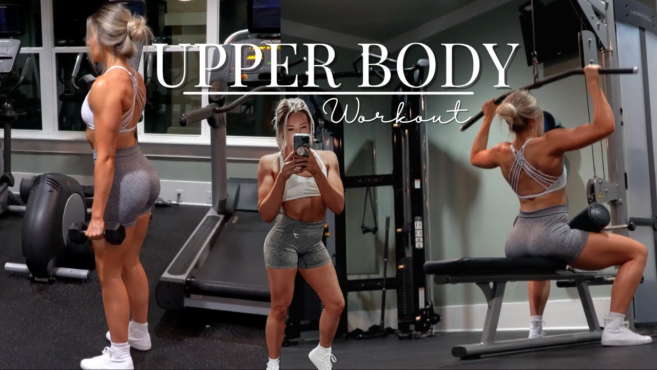 Upper Body Full Workout! // Back & Bis, Chest, Shoulders &Tris!