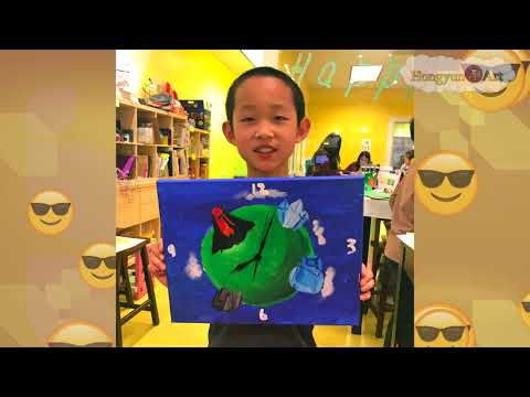 2018 Acrylic Painting Clock Project | Hongyun Art | Cupertino Art School