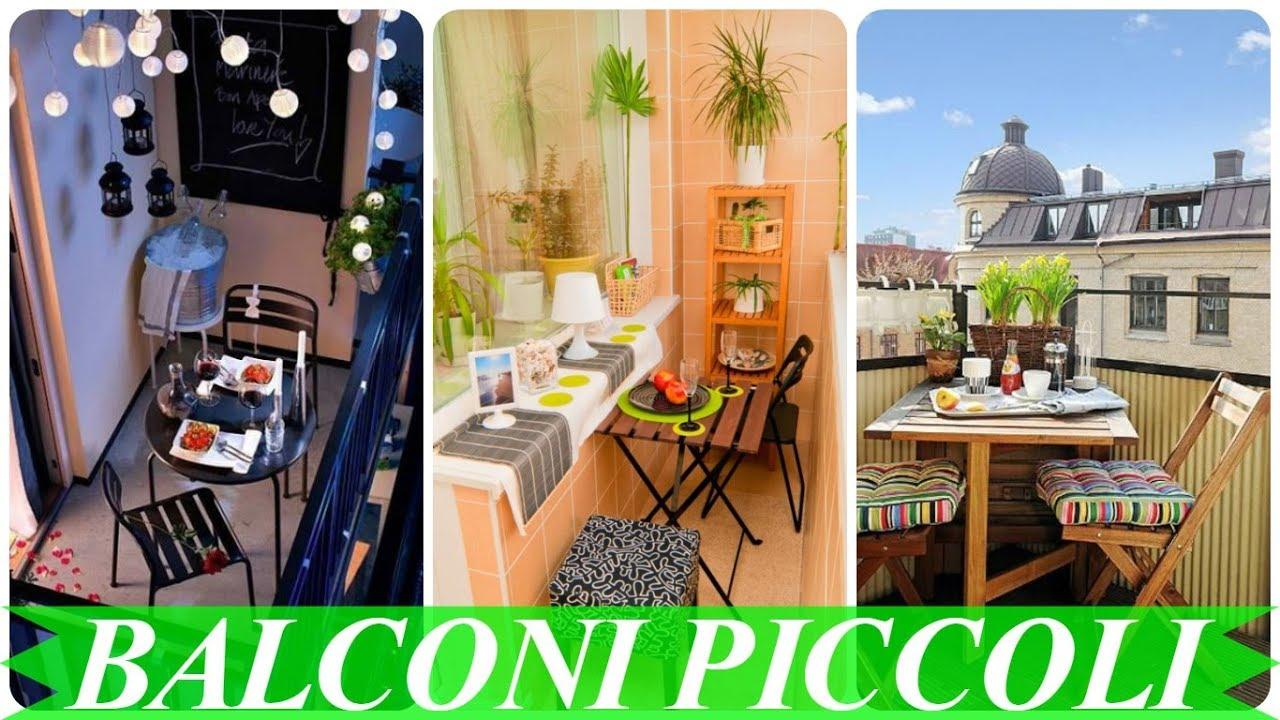 Idee per terrazzi e piccoli balconi youtube for Arredare balconi piccoli