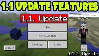 MCPE 1.1 UPDATE FEATURES! Minecraft Pocket Edition 1.1 UPDATE FEATURES CONFIRMED! (MCPE 1.1 UPDATE)