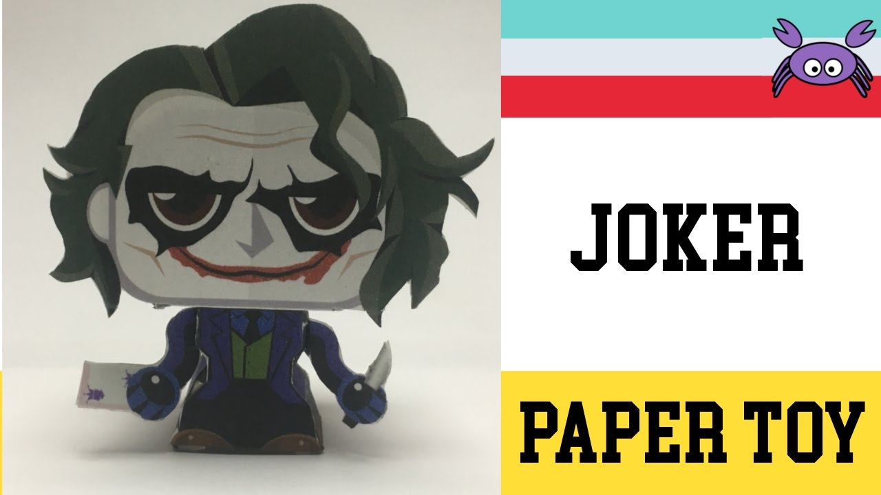 how to make a joker paper toy   papercraft    free