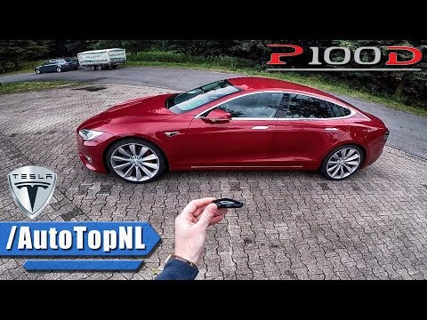 Tesla Model S P100D REVIEW POV AUTOBAHN Test Drive by AutoTopNL