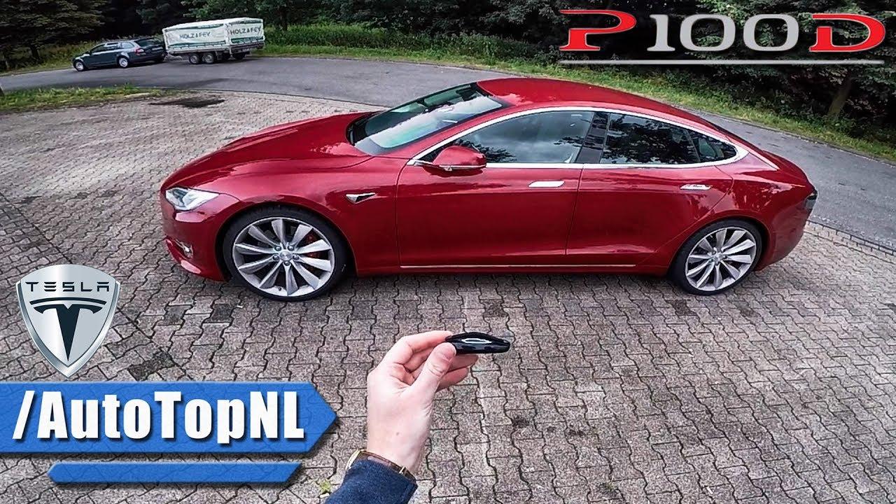 Tesla Model S P100d Review Pov Autobahn Test Drive By Autotopnl