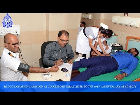 Blood Donation Campaign At Colombo In Paralleled To The 69th Anniversary Of SL Navy