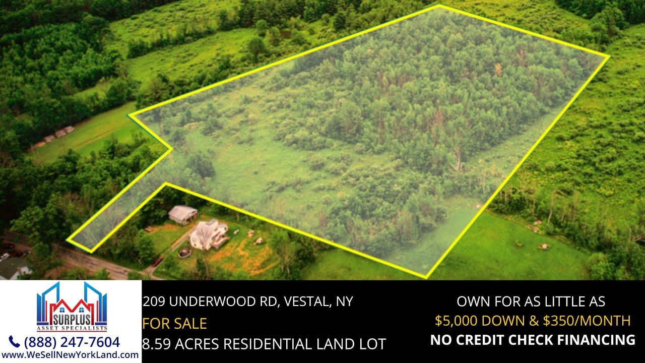 209 Underwood Rd Vestal, New York - New York Land For Sale  - www.WeSellNewYorkLand.com