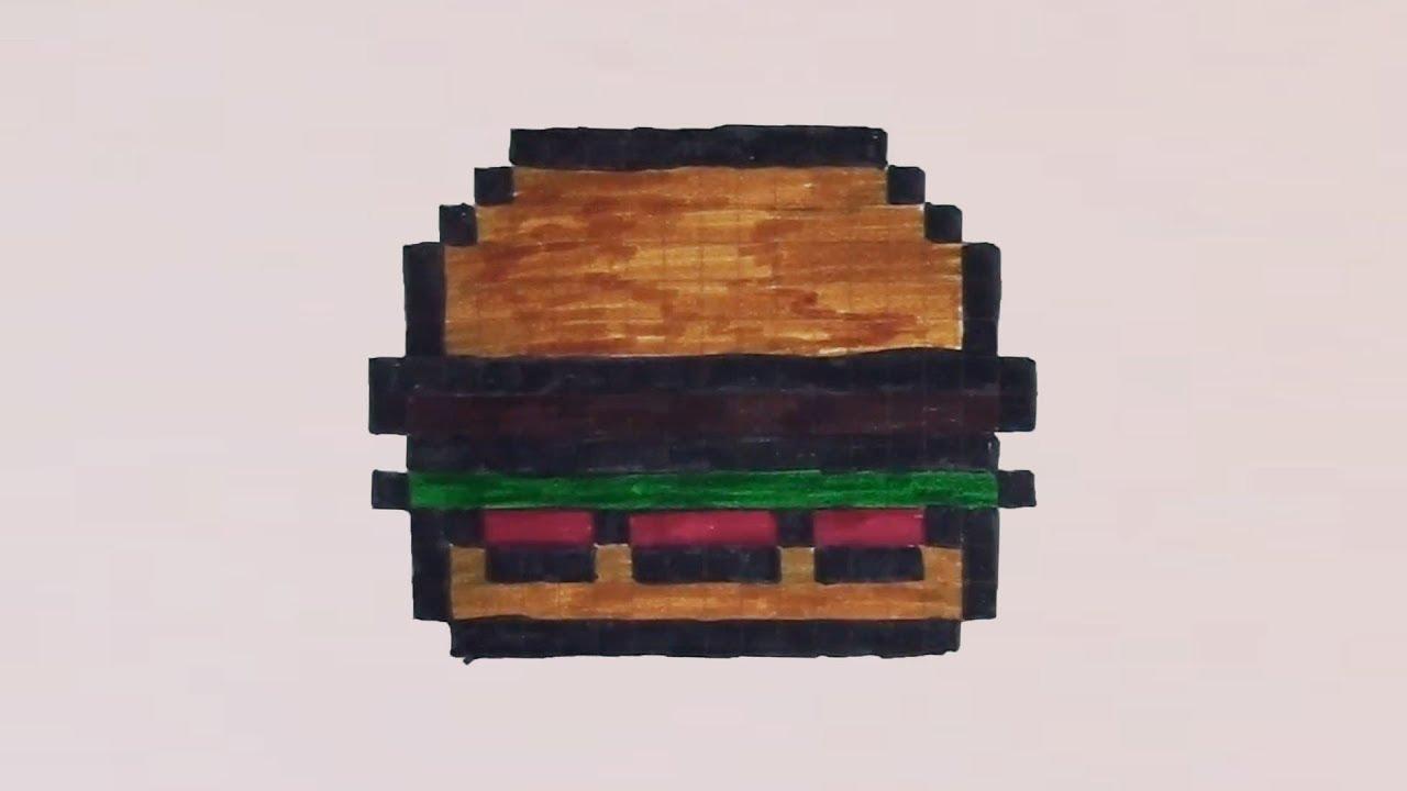 pixel art hamburger