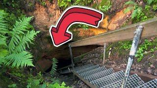 Идем к к пещере с подземным озером. И само подземное озеро!