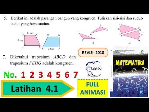 Latihan 4 1 Nomor 1 2 3 4 5 6 7 Kelas 9 Smp Mts Kekongruenan Bangun Datar Matematika Hal 212 Bab 4 Youtube