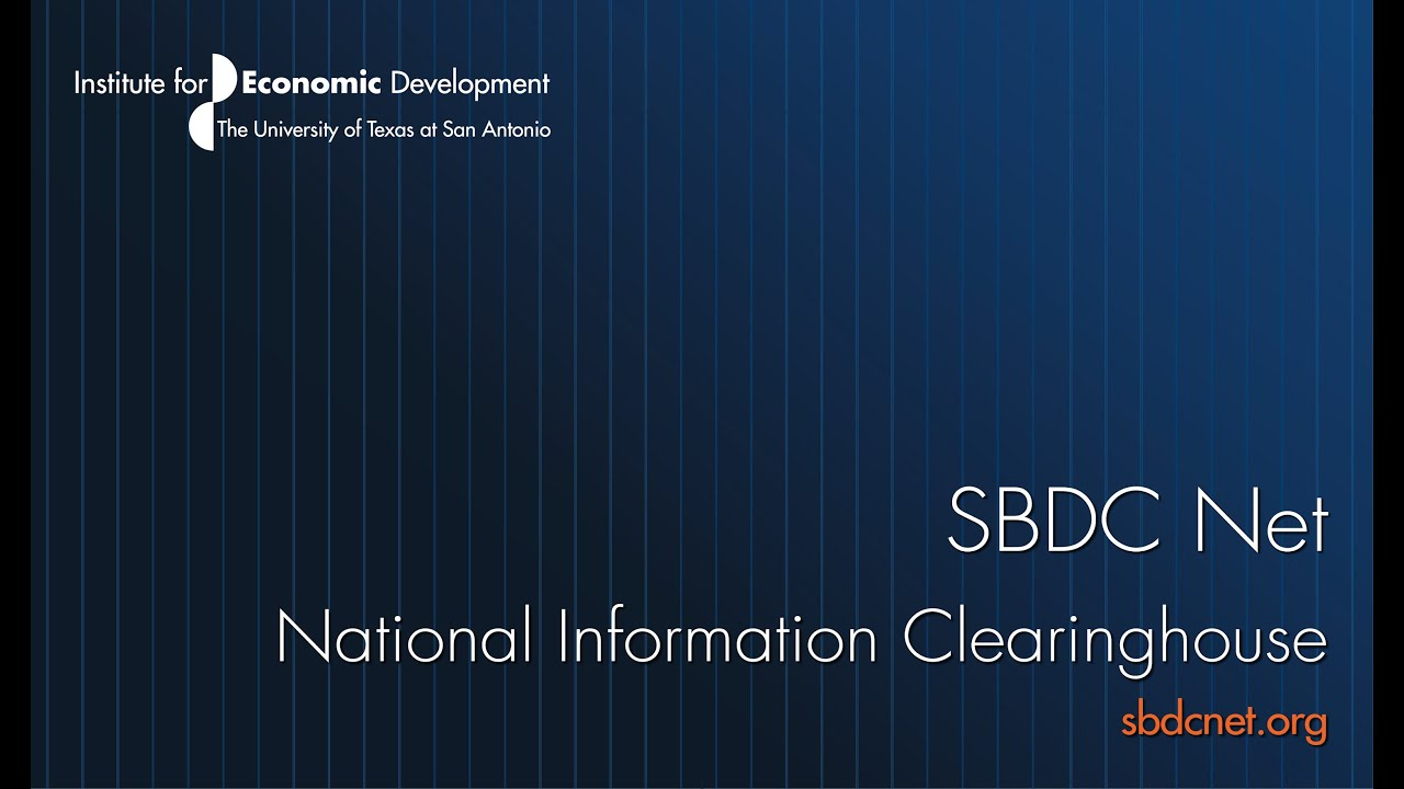 SBDCNet   National Information Clearinghouse
