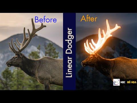 Glowing Effect - Linear Dodger(Add) Photoshop CC2019