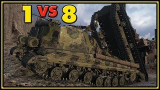 Object 268 Version 4 - 1 vs 8 - 11 Kills - World of Tanks Gameplay