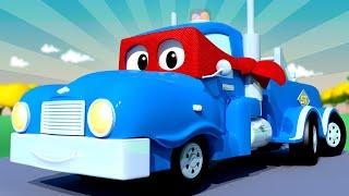 El Super Camión Grúa - Carl el Super Camión en Auto City   Dibujos animados para niños