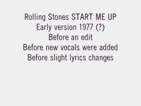 Rolling Stones START ME UP EARLY VERSION 1977