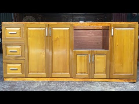 How To Build A Under Kitchen Cabinets – Amazing Woodworking Technology Extremely Primitive