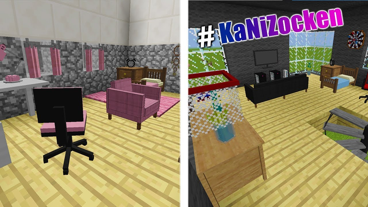 Ninas m dchen kinderzimmer vs kaans modernes kinderzimmer for Minecraft kinderzimmer