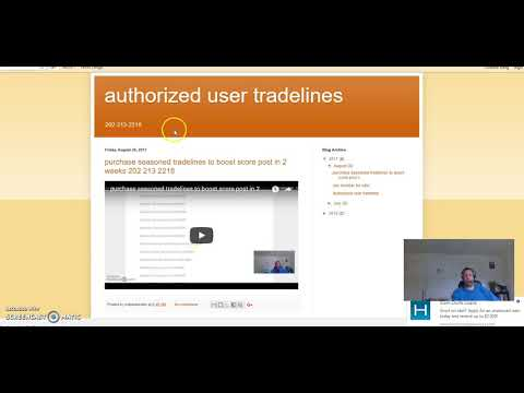 Buy Authorized User Tradelines To Boost Credit Score Points Seasoned