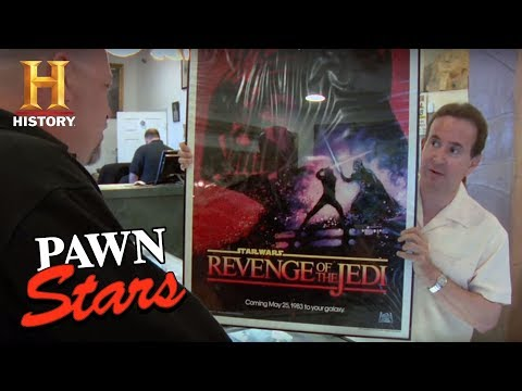Pawn Stars: Recalled Star Wars: Revenge of the Jedi Poster  History