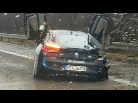Bmw I8 Crashed In Accident Youtube