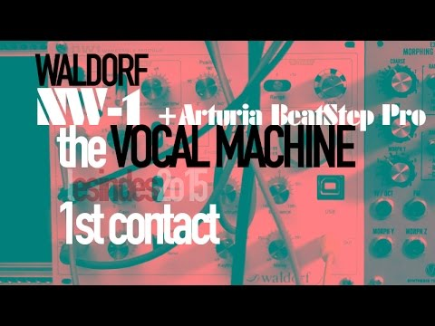 WALDORF NW-1// the VOCAL MACHINE // Wavetable Module // SPEECH SYNTHESIZER