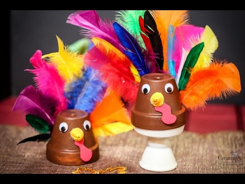 Easy Clay Pot Turkey Craft Best Last Minute Thanksgiving Craft for Kids or Adults