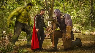 Thanos Vs Thor and Hulk - Fight Scene - Thanos Snaps His Fingers