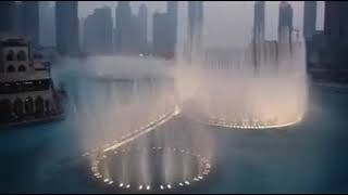 Burj Khalifa Water Dancing Dubai Mall UAE HD.. united Arab Emirates... 2016 water flow