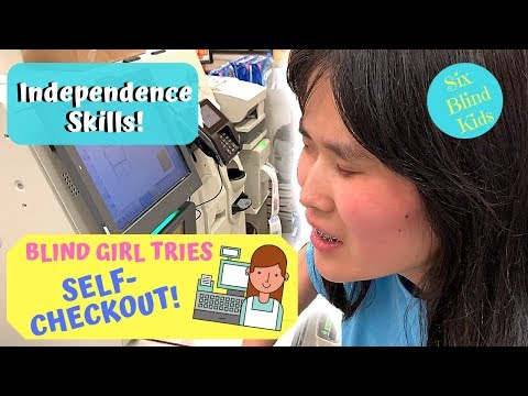SixBlindKids - Independence Skills - Blind Girl Tries Grocery Self