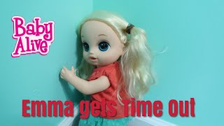 BABY ALIVE Emmas Time Out baby alive House Cleaning Routine