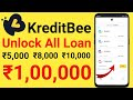 KreditBee Unlocked All Loan With proof & Get ₹1,00,000 Instently in your bank account | Hindi