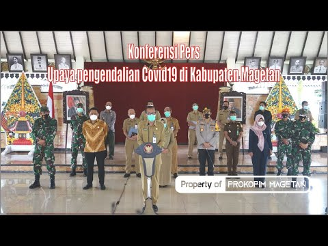 Konferensi Pers Bupati Magetan Upaya pengendalian Covid19 di Kabupaten Magetan