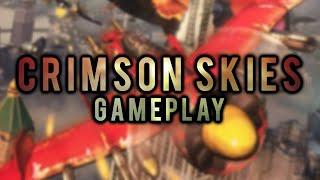 Retro Gaming PC - Crimson Skies   Gameplay [2000]