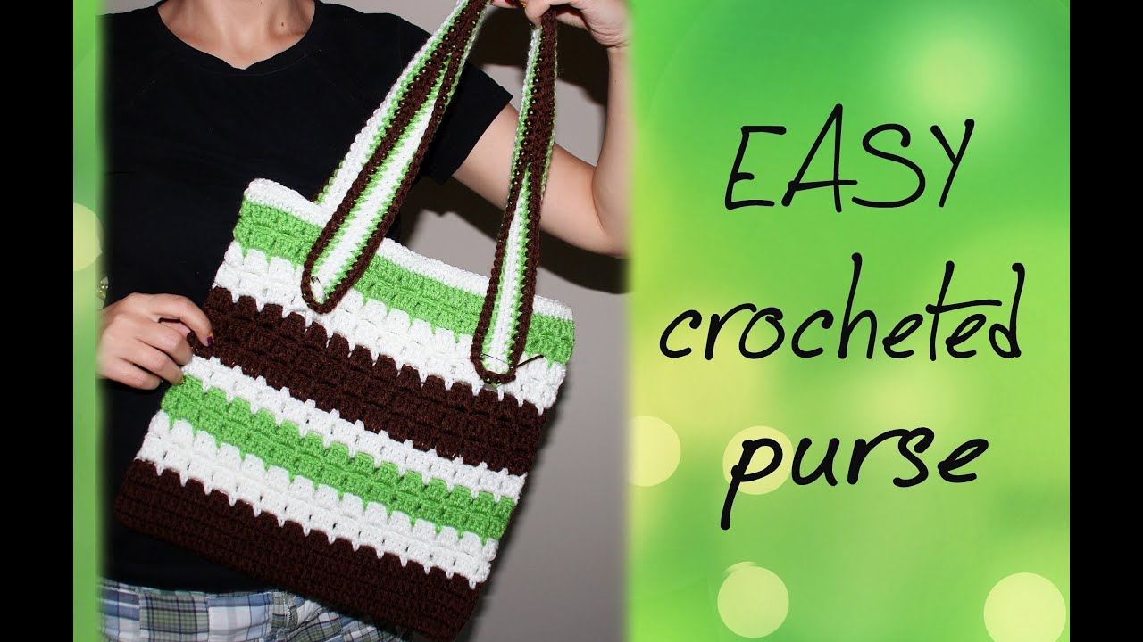 How To Crochet Basics : How To Crochet for Beginners #10: Easy Purse - YouTube