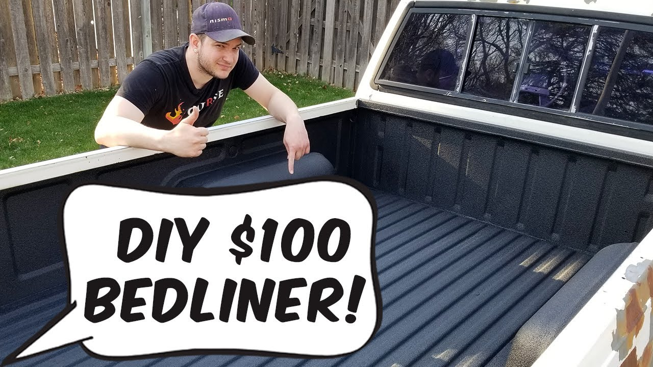 $100 DIY Bed Liner - Making an old truck bed new! - YouTube