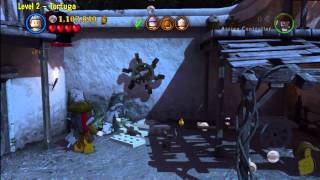 Lego Pirates of the Caribbean: Level 2 Tortuga - FREE PLAY (Minikits and Compass Items) - HTG