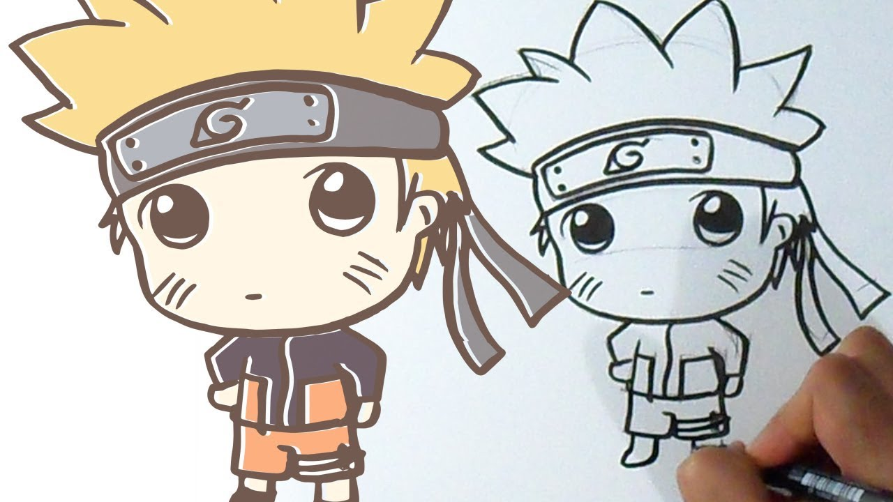 Cómo Dibujar A Naruto Kawaii Youtube