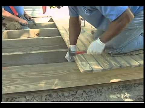Raised Wood Floor Home Porches And Decks Youtube