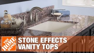 Stone Effects Vanity Tops | The Home Depot