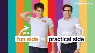 Your Fun Side Vs. Your Practical Side // Presented by BuzzFeed Canada & vitaminwater