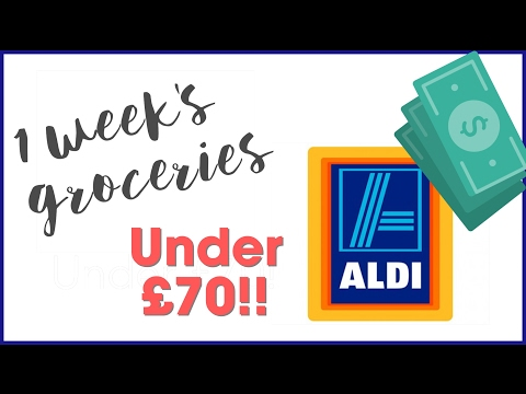 Aldi Grocery Haul under £70   Feeding the family on a budget!