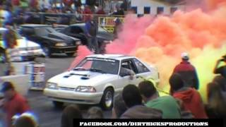 MULTI COLORED SMOKE BURNOUT - FORD MUSTANG @ NMRA FORD NATIONALS