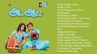 Anbe Aaruyire BGMs (Voiceless/Vocals Removed HQ BGMs Of Ah Aah) An AR Rahman Musical