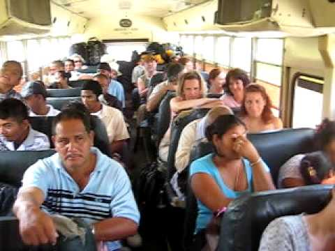 Riding the Bus from Belize-city to the Mexican border