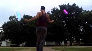 Poi Freestyle at my parent's house in MN Movie on 8 5 18 at 7 50 PM