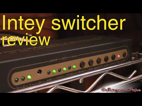 Intey 4k HDMI switcher with audio extractor review