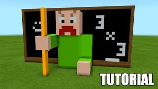 """Minecraft Tutorial: How To Make A ANGRY BALDI """"Roblox Baldi's School House""""! (Survival House)"""
