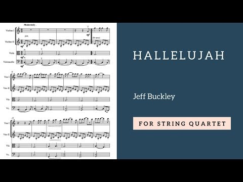 Jeff Buckley - Hallelujah version for string quartet
