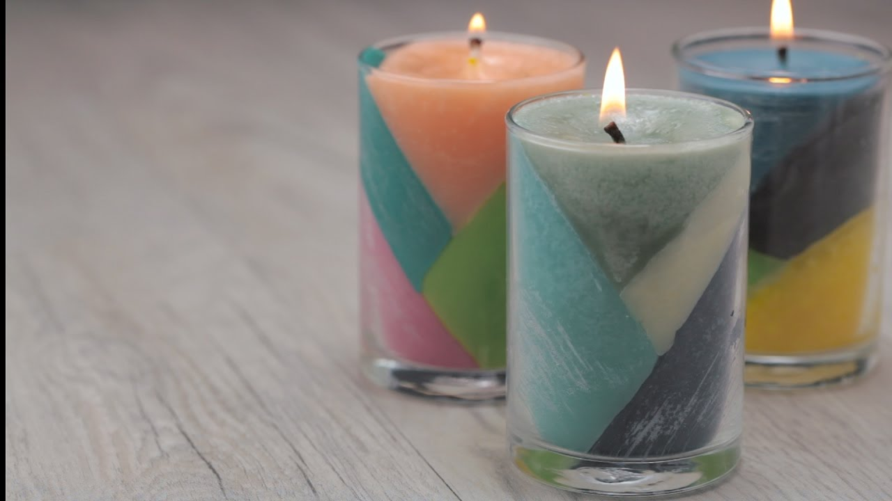 Diy Candles Diy Color Block Candles Youtube