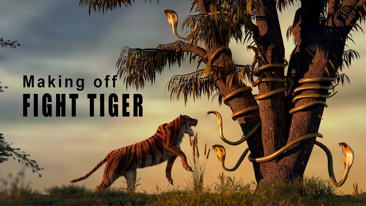 Making off Fight tiger - Cinema 4D R20 - Octane Render